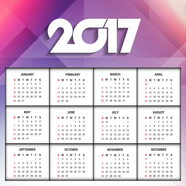 polygonal-new-year-2017-calendar_1055-821